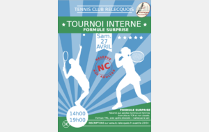 TOURNOI INTERNE ADULTES  SURPRISES  TCR